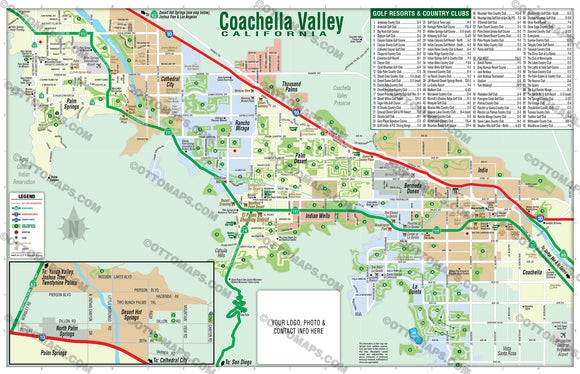 Coachella Valley Map - PDF, layered, editable