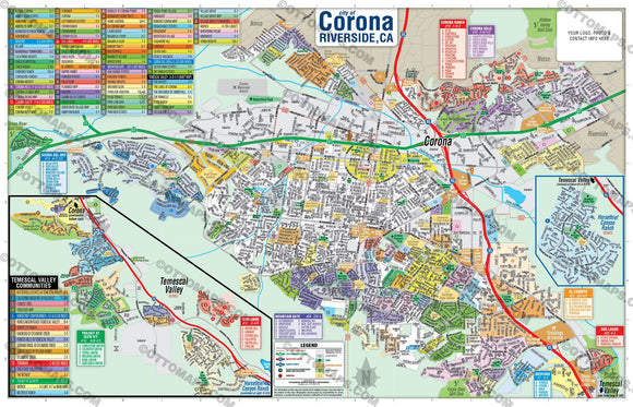 Corona Map - PDF, editable, royalty free