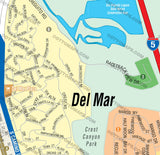 Del Mar Map - PDF, editable, Royalty Free
