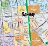 Downey Map - PDF, editable, royalty free