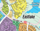 Eastlake Map - PDF, layered, editable