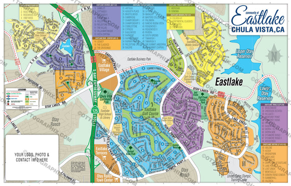 Eastlake Map, San Diego County, CA