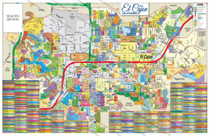 El Cajon Map (3 versions: Full, East & West), San Diego County, CA