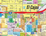 El Cajon WEST Map, San Diego County, CA