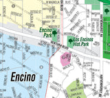 Encino Map, Los Angeles County, CA