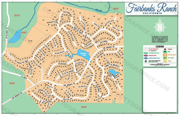 Fairbanks Ranch Map, San Diego County, CA