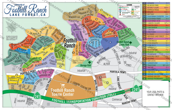 Foothill Ranch Map, Orange County, CA