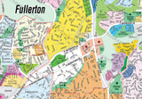 Fullerton Map, Orange County, CA