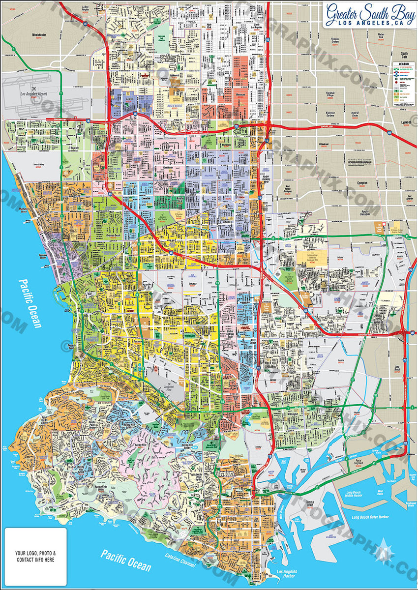 Greater South Bay Map Los Angeles County Ca Otto Maps Fill in the boxes to display a map of a location, an address, city or state and click search. otto maps