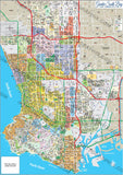 Greater South Bay Map - PDF, layered, editable