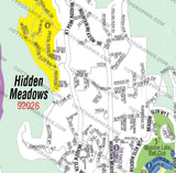 Hidden Meadows Map, San Diego County, CA