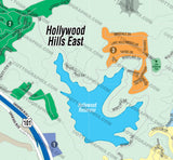 Hollywood Hills Map-EAST, Los Angeles County, CA