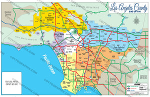 Los Angeles County Map - SOUTH (No Zip Codes)