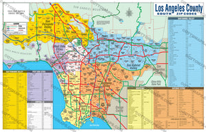 Los Angeles Zip Code Map - PDF, editable, royalty free