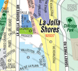 La Jolla Shores Map, San Diego County, CA