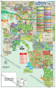 La Quinta Map - PDF, editable, royalty free