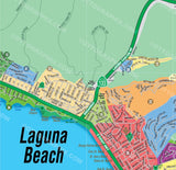 Laguna Beach Map - North, Orange County, CA