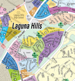 Laguna Hills Map, Orange County, CA