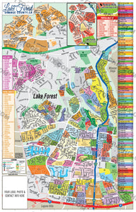 Lake Forest Map, Orange County, CA