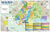 Lake San Marcos Map - PDF, editable, royalty free