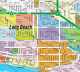 Long Beach Map - PDF, editable, royalty free