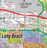 Long Beach Map (3 options: Full, West & East), Los Angeles County, CA