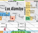 Los Alamitos Map, Orange County, CA