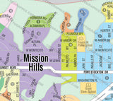 Mission Hills Map, San Diego County, CA
