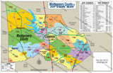 Montgomery County Zip Code Map - PDF, editable, royalty free