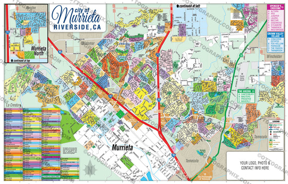 Murrieta Map - PDF, Editable, Royalty Free