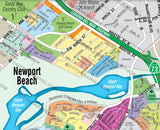 Newport Beach Map, Orange County, CA