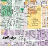 Northridge and Granada Hills Map, Los Angeles County, CA