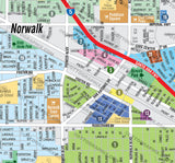 Norwalk Map, Los Angeles County, CA