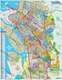 Oakland Map, Alameda County, CA - PDF, vector, royalty free