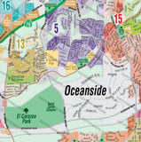 Oceanside Map - PDF, editable, royalty free