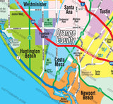 Orange County Map - COASTAL (no Zip Codes)