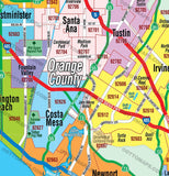 Orange County Map with Zip Codes - PDF, editable, royalty free