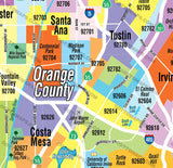 Orange County Zip Code Map - PDF, editable, royalty free