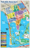 Pacific Beach, Mission Beach, Mission Bay Map - PDF, editable, royalty free