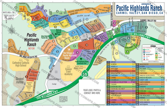 Pacific Highlands Ranch Map - PDF, editable, royalty free