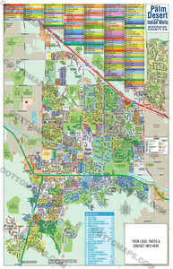 Palm Desert Map with Indian Wells - PDF, editable, royalty free