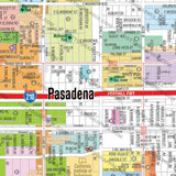 Pasadena Map, Los Angeles County, CA
