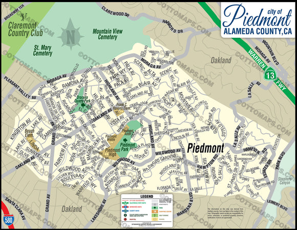 Piedmont Map - PDF, vector, royalty free