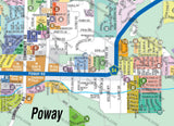 Poway Map - PDF, editable, royalty free