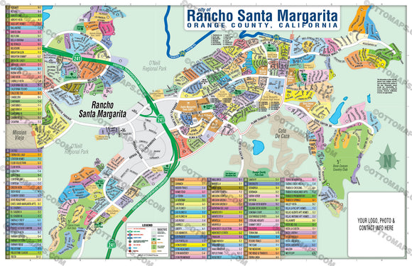Rancho Santa Margarita Map, Orange County, CA