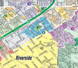 Riverside City Map - WEST, CA