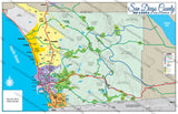 San Diego County Map - PDF, editable, royalty free
