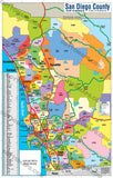 San Diego County Zip Code Map - PDF, editable, royalty free