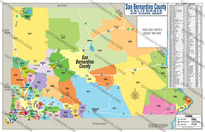 San Bernardino County Zip Code Map - PDF, editable, royalty free