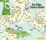 San Diego Country Estates Map, San Diego County, CA